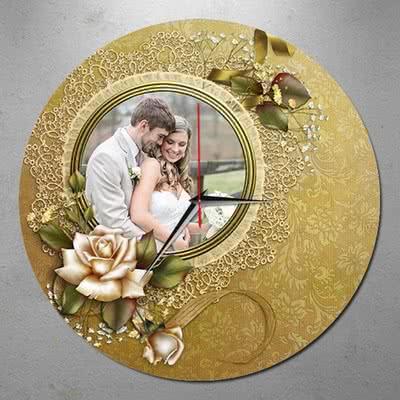 Evli Çiftlere Özel Hediye Duvar Saati