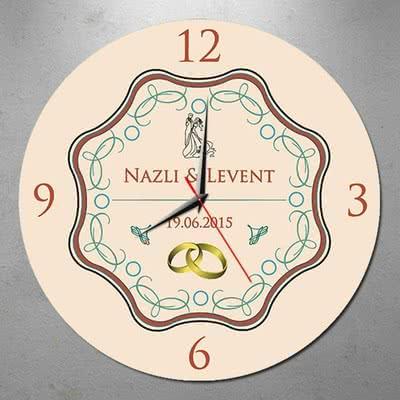 Düğün Hediyesi Duvar Saati