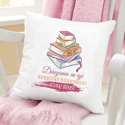 Edebiyat Öğretmenlerine Özel Hediye Yastık