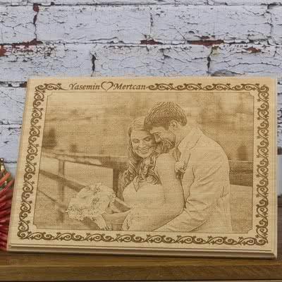 Sevgiliye Hediye Ahşap Foto