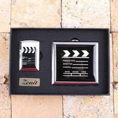 Film Klaketi Tasarımlı Çakmak Ve Sigara Tabakası