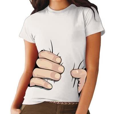 Güçlü El 3D Baskılı Tişört