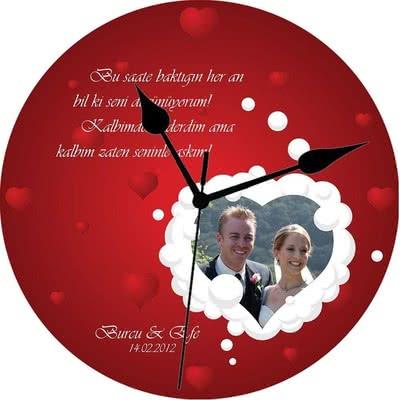 Sevgiliye Özel Hediye Romantik Duvar Saati