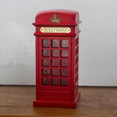 İngiliz Telefon Kulübesi Tasarımlı Kumbara