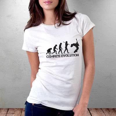 İsim Yazılı Bir Gitaristin Evrimi Tişörtü