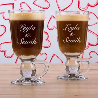 İsim Yazılı Kahve Bardak Seti