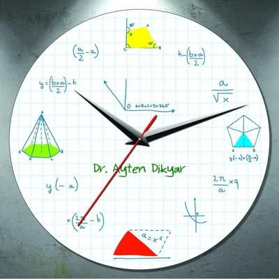 Matematik Sevenlere Özel Hediye Duvar Saati