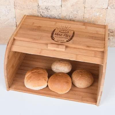 İsme Özel Mutfak Hediyesi Ahşap Ekmek Dolabı