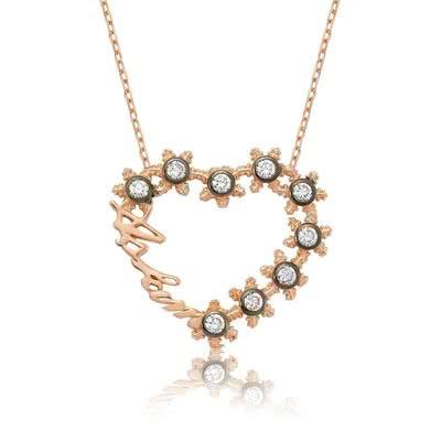 Kalbimin Aşkı Gümüş Kolye