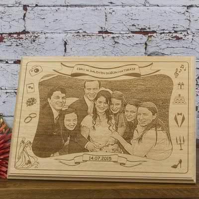 Kına-Düğün-Nişan Hatırası Ahşap Foto
