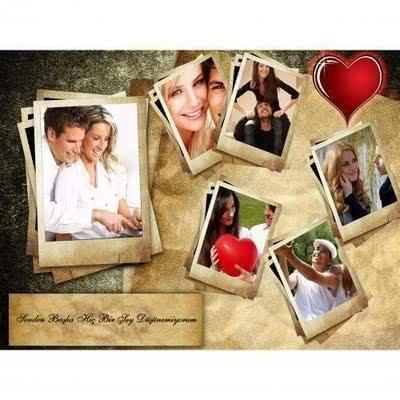 Romantik Doğum Günü Hediyesi Fotokolaj