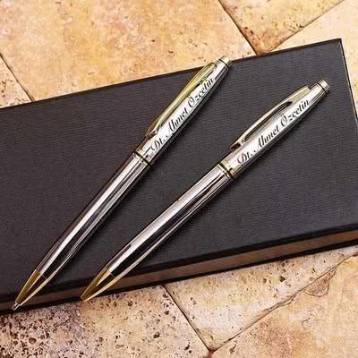 Öğretmen Sevgiliye Hediye İkili Kalem Seti