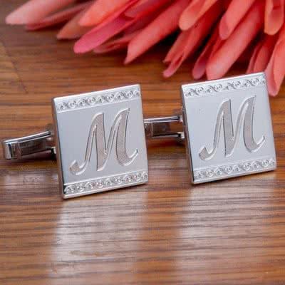 Erkeğe Özel Gümüş Kol Düğmeleri