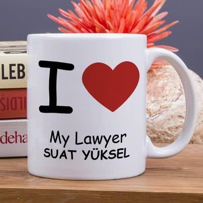 Avukat Sevgiliye Hediye Özel Kupa