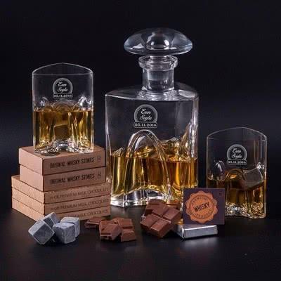 Premium Viski Şişesi Ve Bardak Seti