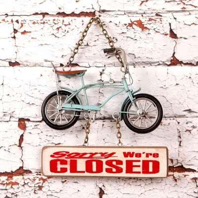 Sevgiliniz İçin Küçük Dekoratif Bisiklet Kapı Yazısı
