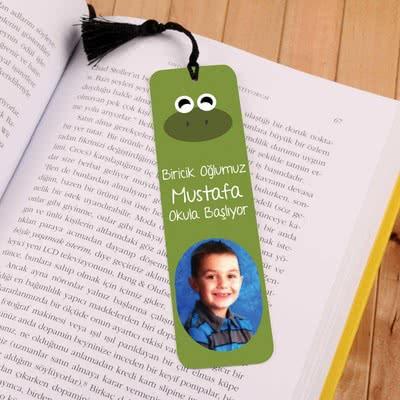 Kurbağa Figürlü Kişiye Özel Kitap Ayracı