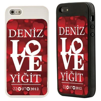 Love Desenli iPhone 5-5s-5c Kabı