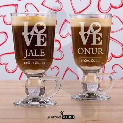 LOVE Kahve Bardağı Sevgililere Özel