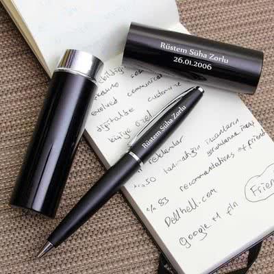 Babaya İş Yeri Hediyesi Özel Metal Kutulu Kalem