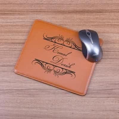 Ofis Masasına Hediye Deri Mouse Pad