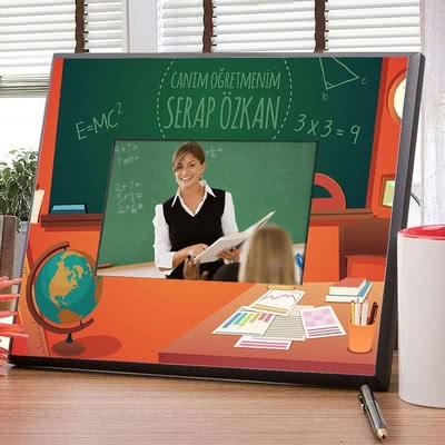 Öğretmene Özel Hediye Renkli Çerçeve