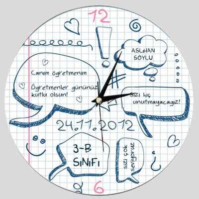 Öğretmenler Gününe Özel Duvar Saati