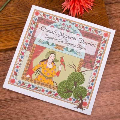 Büyüklere Özel Hediye Osmanlı Desenli Boyama Kitabı