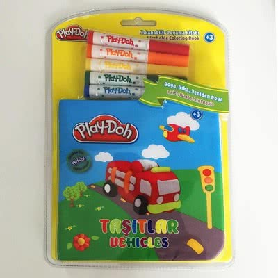 Play-Doh Yıkanabilir Boyama Kitabı Taşıtlar