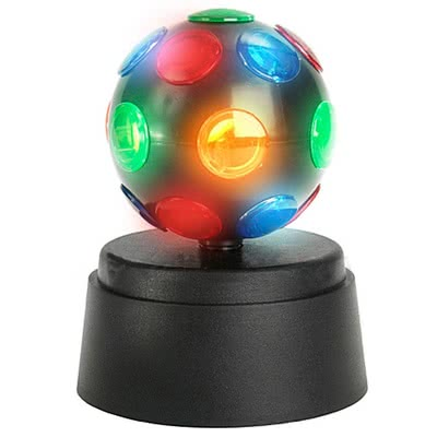 Renkli Dönen Disko Topu