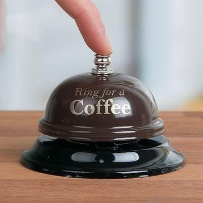 Ring For A Coffee Yazılı Resepsiyon Zili