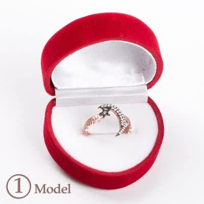 Rose Renk Taşlı Gümüş Yüzük Modelleri