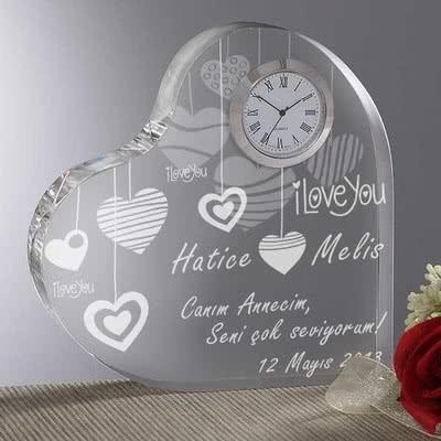 Sallanan Kalpler Masa Saati Anneye Hediyelik