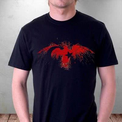 Şanlı Kırmızı Türk Kartalı Baskılı Tişört