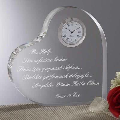 Sevgililer Günü özel Mesajlı Kalp