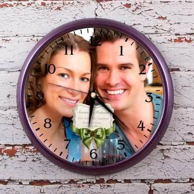 Sevgiliye Hediye Fotoğraf Baskılı Duvar Saati