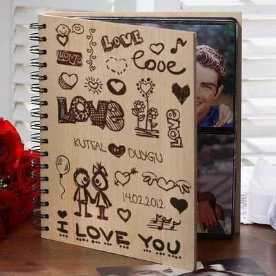 Sevgiliye Hediye Albüm Love Tasarımlı