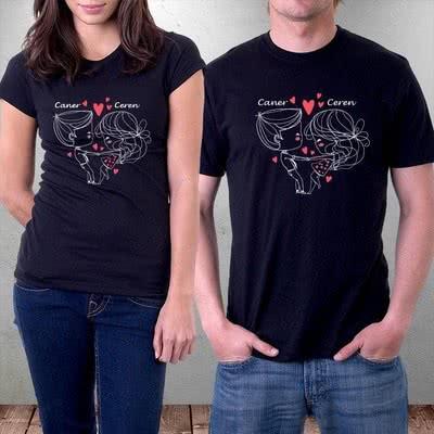 Çiftler İçin Hediye Aşk T-shirtleri