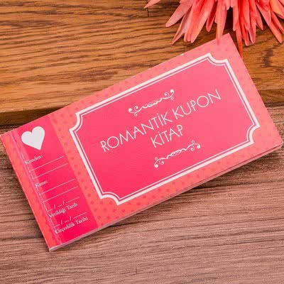 Kız Arkadaşa Özel Hediye Romantik Kupon Kitap