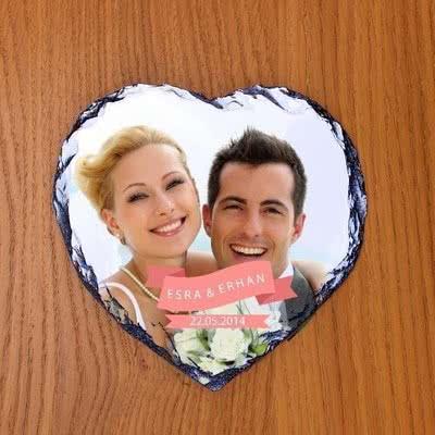 Sevgiliye Özel Kalp Taş Foto