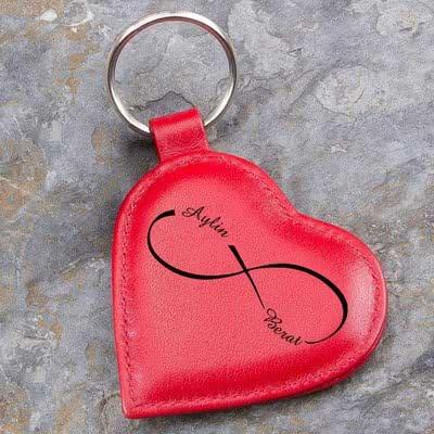 Aşkıma Hediye Deri Anahtarlık