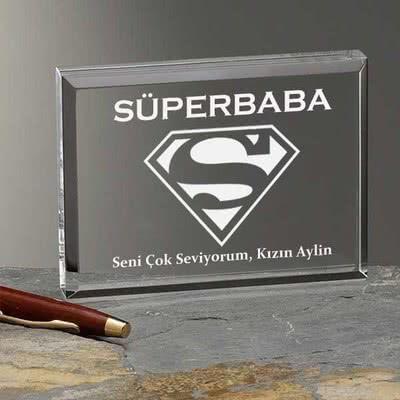 Süper Baba Mesajlı Plaket