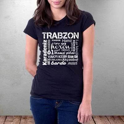 Trabzon Şehri Hediyesi Baskılı Tişört