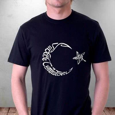 Ay Yıldız Baskılı Tasarım Tişört