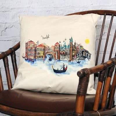Venedik Tasarımlı Yastık DSG Şehir Koleksiyonu