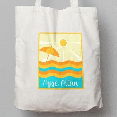Yaz Tatiline Çıkacaklara Özel İsimli Plaj Çantası