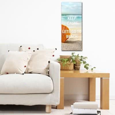Yazlık Ev Hediyesi Keep Calm Tasarımlı Kanvas Tablo