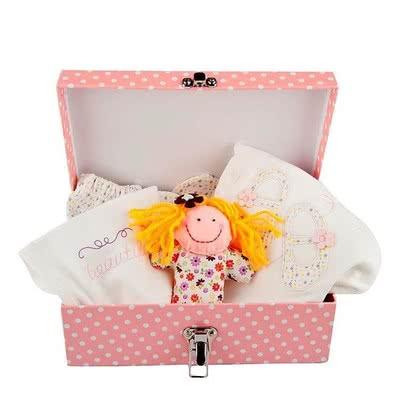 Kız Bebekler için Özel Çiçek Desenli Hediye Sepeti