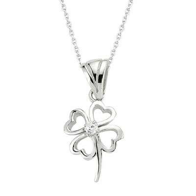 Sevgiliye Özel 4 Yapraklı Yonca Sembollü Gümüş Kolye