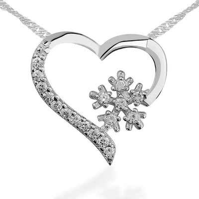 Sevgiliye Doğum Günü Hediyesi Gümüş Kolye